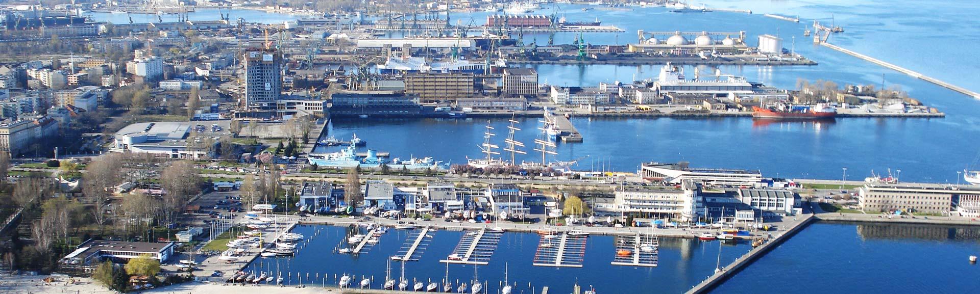 Panorama portu w Gdyni